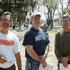 Wayne Foley, Doug Fisher, Joe Listoe, Saskatoon, Saskatchewan (L-R)